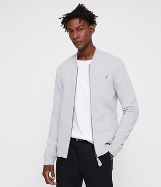 Men's Raven Sweat Bomber (Grey Marl) - Image 4