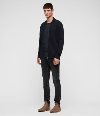 Men's Raven Sweat Bomber (INK NAVY) - product_image_alt_text_3