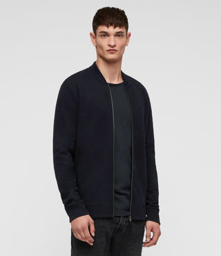 Men's Raven Sweat Bomber (INK NAVY) - product_image_alt_text_4