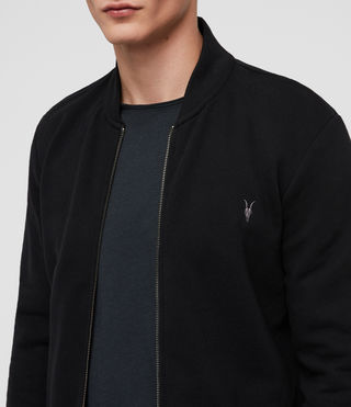 Men's Raven Sweat Bomber (Black) - product_image_alt_text_2