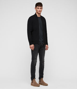 Men's Raven Sweat Bomber (Black) - product_image_alt_text_3
