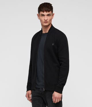 Men's Raven Sweat Bomber (Black) - product_image_alt_text_4