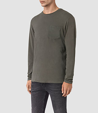 Mens Apollo Long Sleeve Crew T-Shirt (Slate Grey) - product_image_alt_text_2