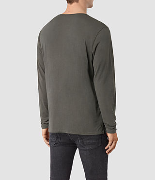 Hombre Apollo Long Sleeve Crew T-Shirt (Slate Grey) - product_image_alt_text_3