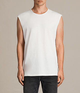 Herren Tehson Sleeveless Crew T-Shirt (Chalk White) -