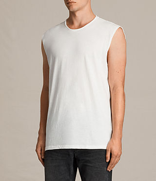 Men's Tehson Sleeveless Crew T-Shirt (Chalk White) - product_image_alt_text_2