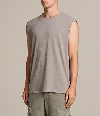 Hombre Camiseta sin mangas Tehson (Putty Grey) - Image 3