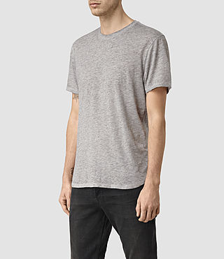 Uomo Jaitress Crew T-Shirt (Grey Marl) - product_image_alt_text_3