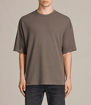 Mens Hiruma Crew T-Shirt (Washed Khaki) - product_image_alt_text_1