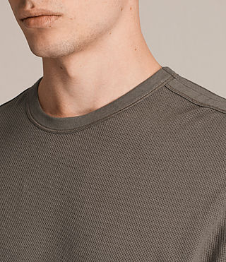Herren Hiruma Crew T-Shirt (Washed Khaki) - product_image_alt_text_2