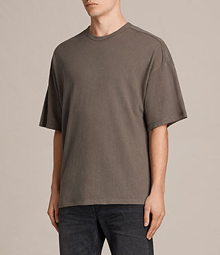 Mens Hiruma Crew T-Shirt (Washed Khaki) - product_image_alt_text_3