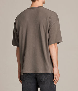 Herren Hiruma Crew T-Shirt (Washed Khaki) - product_image_alt_text_4