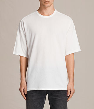 Mens Hiruma Crew T-Shirt (Chalk White) - product_image_alt_text_1