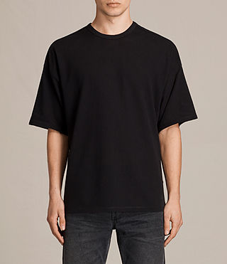 Men's Hiruma Crew T-Shirt (Jet Black) - product_image_alt_text_1