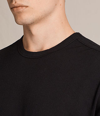 Men's Hiruma Crew T-Shirt (Jet Black) - product_image_alt_text_2