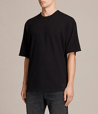 Men's Hiruma Crew T-Shirt (Jet Black) - product_image_alt_text_3