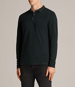 Uomo Polo Reform maniche lunghe (Racing Green) - Image 3
