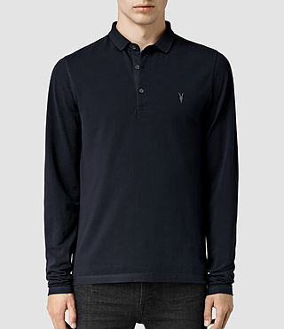 Mens Reform Long Sleeved Polo Shirt (Ink) - product_image_alt_text_1