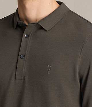 Mens Reform Long Sleeve Polo Shirt (Military Green) - product_image_alt_text_2
