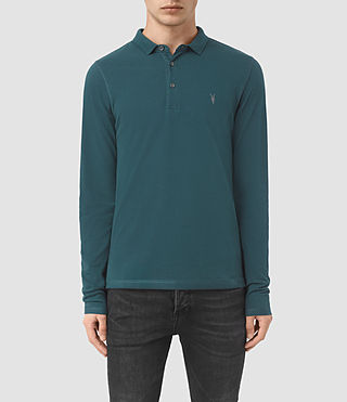Uomo Reform Long Sleeve Polo Shirt (Midnight Blue) -