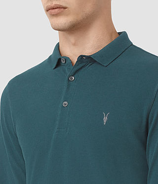 Uomo Reform Long Sleeve Polo Shirt (Midnight Blue) - product_image_alt_text_2