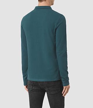 Uomo Reform Long Sleeve Polo Shirt (Midnight Blue) - product_image_alt_text_4