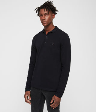 Hommes Reform Long Sleeve Polo Shirt (INK NAVY)