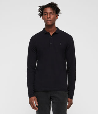 Men's Reform Long Sleeve Polo Shirt (INK NAVY) - product_image_alt_text_3