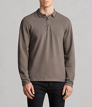 Mens Reform Ls Polo (Olive Green) - Image 1