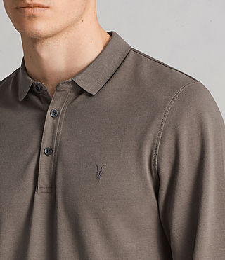 Mens Reform Ls Polo (Olive Green) - Image 2
