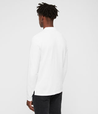 Mens Reform Long Sleeved Polo (Optic White) - product_image_alt_text_4