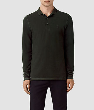 Hommes Reform Long Sleeve Polo Shirt (LICHEN GREEN)