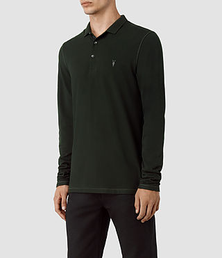 Men's Reform Long Sleeve Polo Shirt (LICHEN GREEN) - product_image_alt_text_2