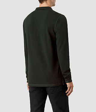 Hombres Reform Long Sleeve Polo Shirt (LICHEN GREEN) - product_image_alt_text_3