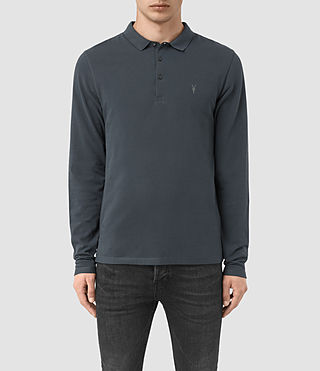 Hombres Reform Long Sleeve Polo Shirt (LEAD BLUE)