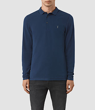 Men's Reform Long Sleeve Polo Shirt (BALTIC BLUE) -