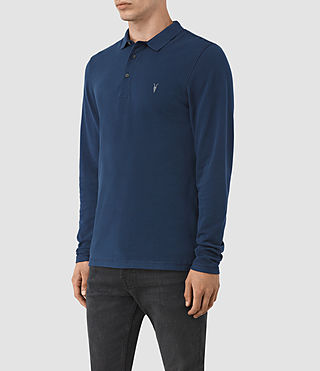 Men's Reform Long Sleeve Polo Shirt (BALTIC BLUE) - product_image_alt_text_2