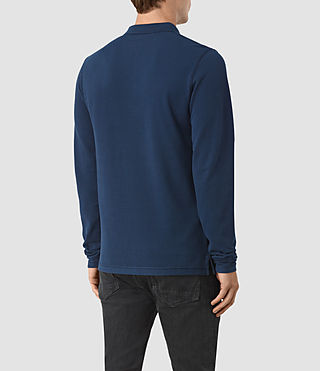 Men's Reform Long Sleeve Polo Shirt (BALTIC BLUE) - product_image_alt_text_3
