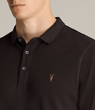 Men's Reform Long Sleeved Polo Shirt (AUBERGINE RED) - Image 2