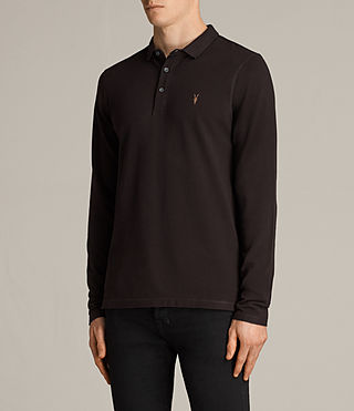 Men's Reform Long Sleeved Polo Shirt (AUBERGINE RED) - Image 3