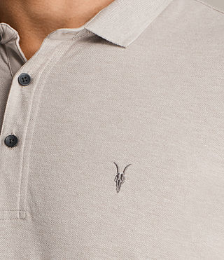 Mens Reform Long Sleeve Polo (SHALE BROWN MARL) - Image 2