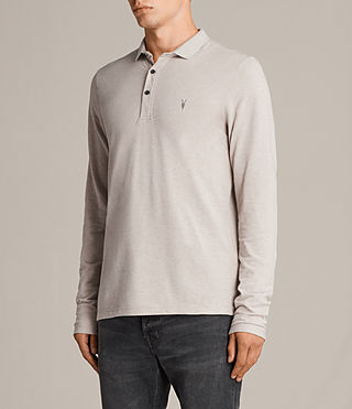 Mens Reform Long Sleeve Polo (SHALE BROWN MARL) - Image 3