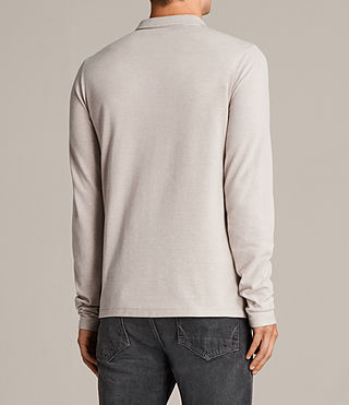 Mens Reform Long Sleeve Polo (SHALE BROWN MARL) - Image 4