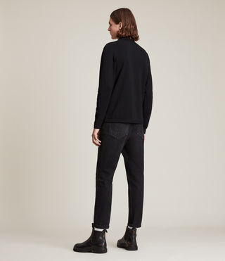 Men's Reform Long Sleeve Polo Shirt (Black) - product_image_alt_text_4