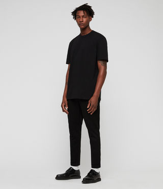 Men's Monta Crew T-Shirt (Jet Black) - product_image_alt_text_3