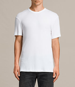 Herren Kurtise Crew T-Shirt (Optic White) -