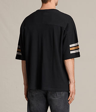 Mens Raimon Crew T-Shirt (JET BLACK/YELLOW) - product_image_alt_text_4