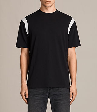 Mens Solen Crew T-Shirt (BLACK/CHALK) - product_image_alt_text_1