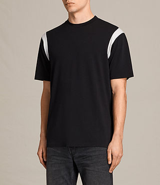 Mens Solen Crew T-Shirt (BLACK/CHALK) - product_image_alt_text_2