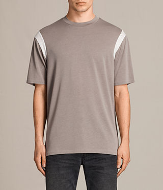 Mens Solen Crew T-Shirt (PUTTY BROWN/CHALK) - product_image_alt_text_1